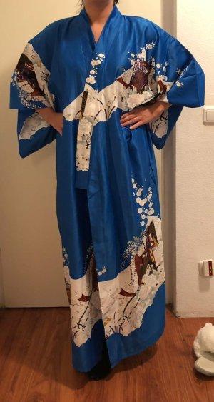 Kimono bleu-bleu fluo
