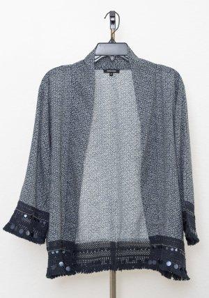 More & More Kimono blouse blauw-wit Viscose