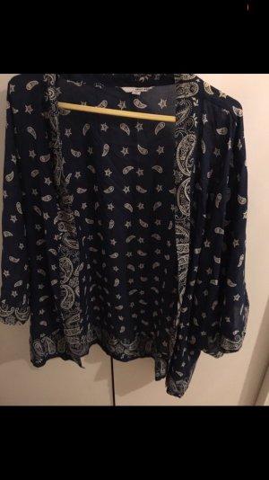 Tally Weijl Kimono blouse wit-donkerblauw