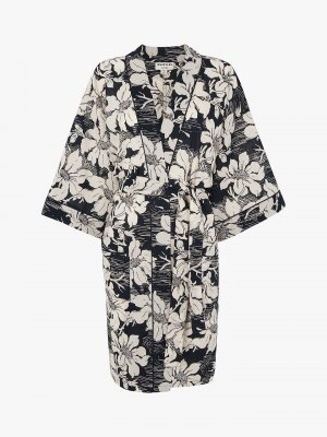 Whistles Kimono dark blue-natural white