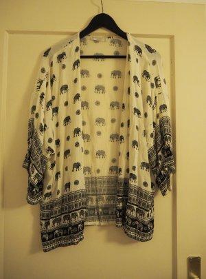 Kimonojacke mit Elefantenmuster
