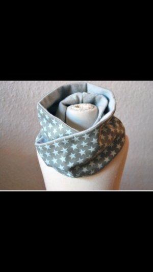 Kinder Loop-Schal/ Schlauchschal mit Sternen und Fleece in beige/ grau