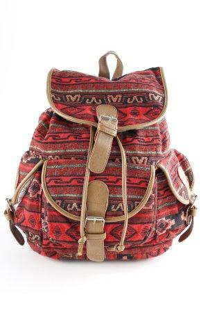 Mini sac à dos motif aztèque style rétro
