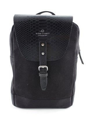 Mini sac à dos noir motif animal style cuir