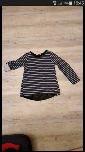 Camisa de rayas blanco-azul oscuro