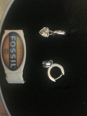 Fossil Orecchino a clip argento