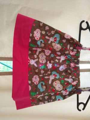 Circle Skirt brown-raspberry-red