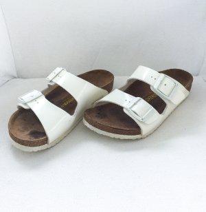 Birkenstock Sandalias cómodas blanco-color bronce