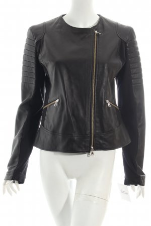 King Kong Fashion Lederjacke schwarz Biker-Look