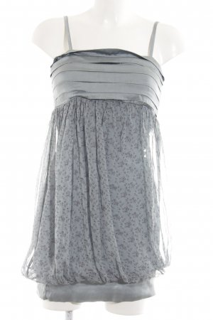 7a977e871c0610 King Kong Minikleid hellgrau-lila Blumenmuster Transparenz-Optik