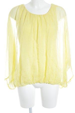 King Kong Transparenz-Bluse gelb Lagen-Look
