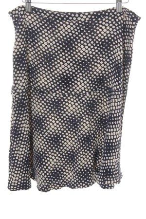 King louie Flared Skirt dark blue-cream spot pattern street-fashion look