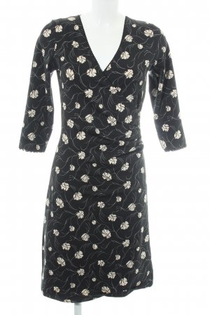 King louie Jerseykleid schwarz-creme Blumenmuster extravaganter Stil