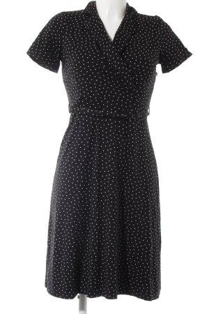 King louie Jerseykleid schwarz-wollweiß Punktemuster Business-Look