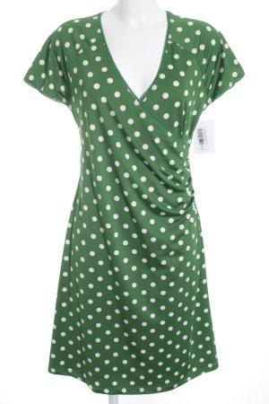 King louie Stretchkleid weiß-grün Punktemuster 20ies-Stil