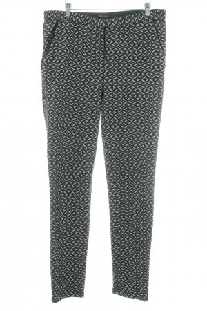 King louie Woolen Trousers black-light grey abstract pattern casual look