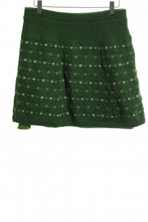 King louie Wollrock waldgrün-grasgrün Zopfmuster Casual-Look