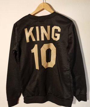 Sweater zwart-goud