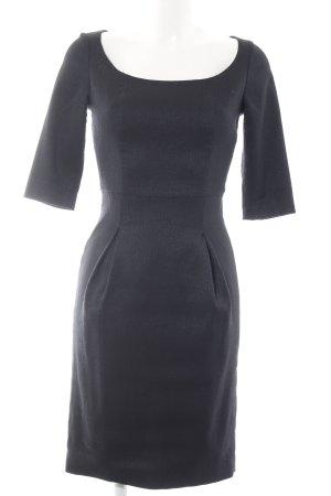 Kinga Mathe Vestido de noche azul oscuro estampado a rayas elegante