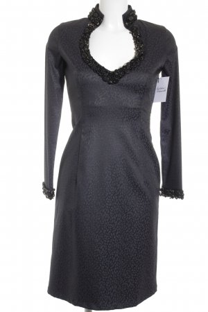 Kinga Mathe Falda estilo lápiz negro-violeta grisáceo estampado de animales