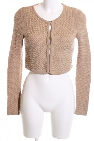 Kinga Mathe Strick Cardigan nude Zopfmuster Business-Look