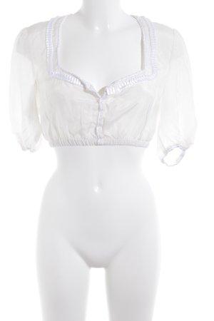 Kinga Mathe Folkloristische blouse room-wit klassieke stijl