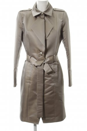 Kinga Mathe Trenchcoat goldfarben meliert Business-Look