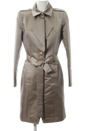 Kinga Mathe Trench Coat gold-colored flecked business style