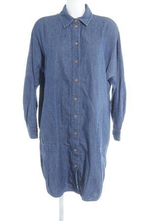 Kings of Indigo Abito blusa camicia blu-blu acciaio Colore sfumato stile casual