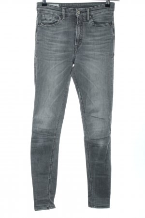 Kings of Indigo High Waist Jeans hellgrau Casual-Look