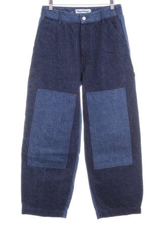 Kings of Indigo High Waist Jeans dunkelblau-stahlblau extravaganter Stil
