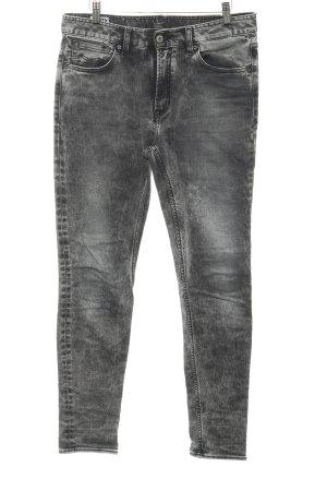 Kings of Indigo Slim Jeans dunkelgrau-hellgrau Casual-Look