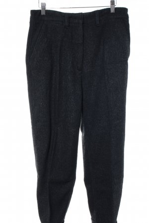 Kings of Indigo Woolen Trousers dark grey flecked business style