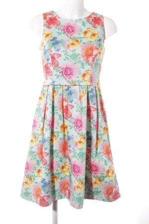 Kiomi A-Linien Kleid florales Muster extravaganter Stil