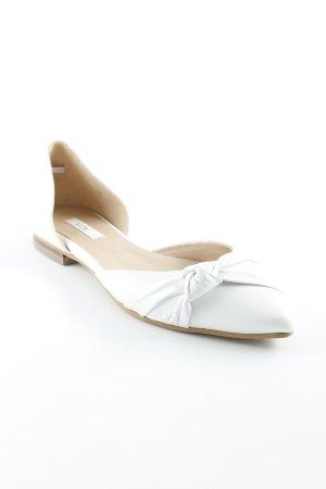 Kiomi Ballerinas mit Spitze weiß Casual-Look