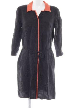 Kiomi Blusenkleid schwarz-neonorange Elegant