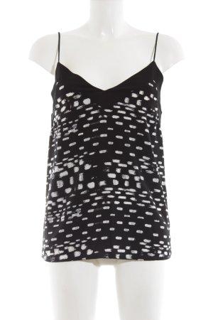Kiomi Blusentop schwarz-hellbeige schlichter Stil
