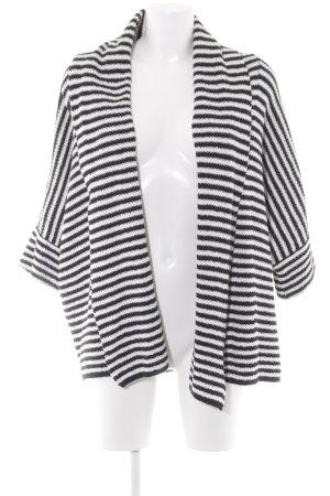 Kiomi Cardigan schwarz-weiß Streifenmuster Casual-Look