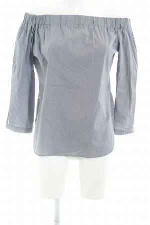 Kiomi Carmen Shirt slate-gray-grey houndstooth pattern casual look