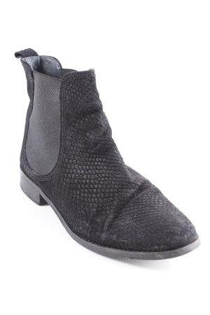 Kiomi Chelsea Boots schwarz Animalmuster Casual-Look