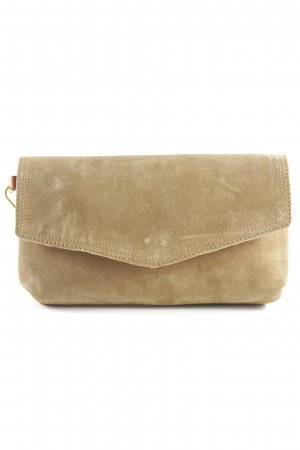 Kiomi Clutch hellbraun-cognac Materialmix-Look