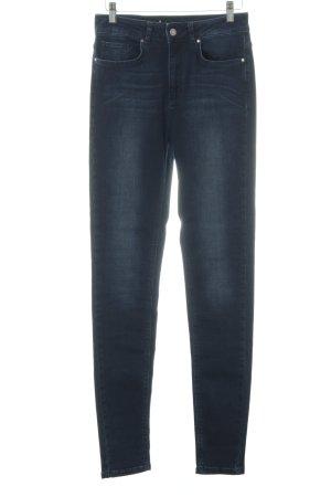 Kiomi Jeans a vita alta blu scuro stile casual