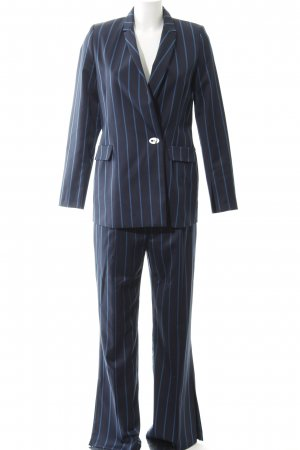 Kiomi Trouser Suit dark blue-cornflower blue striped pattern business style