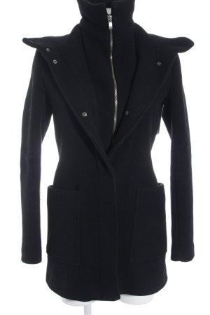 Kiomi Manteau à capuche noir style décontracté