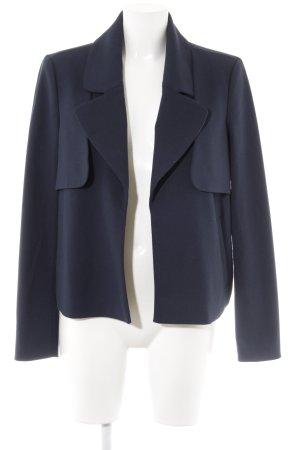 Kiomi Kurz-Blazer dunkelblau-stahlblau Business-Look