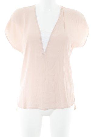 Kiomi Kurzarm-Bluse apricot-weiß Casual-Look