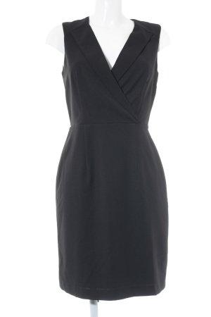 Kiomi Kurzarmkleid schwarz Elegant