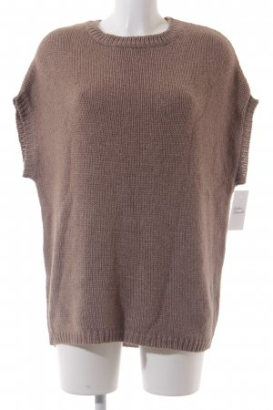Kiomi Short Sleeve Sweater light brown casual look
