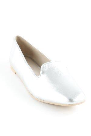 Kiomi Patent Leather Ballerinas silver-colored extravagant style