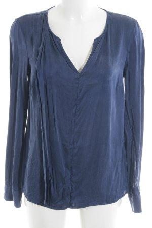 Kiomi Langarm-Bluse dunkelblau-blau Elegant